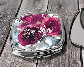 Monogrammed Mirror, Personalized Pocket Mirror, Compact Mirror Wedding Gift, Mother of Bride, Mother of Groom, Purse Mirror Design COM17