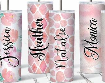 Personalized Bridesmaid Tumblers, Personalized Tumbler, Bridesmaid Gift, Bachelorette Party, Bridesmaid Glass DS1-12