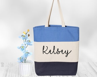 Custom Tote Bag Canvas, Tote Bag Personalized, Tote Bag Women, Bridesmaid Tote Bag Gift, Personalized Tote Bag, Cotton Canvas Tote