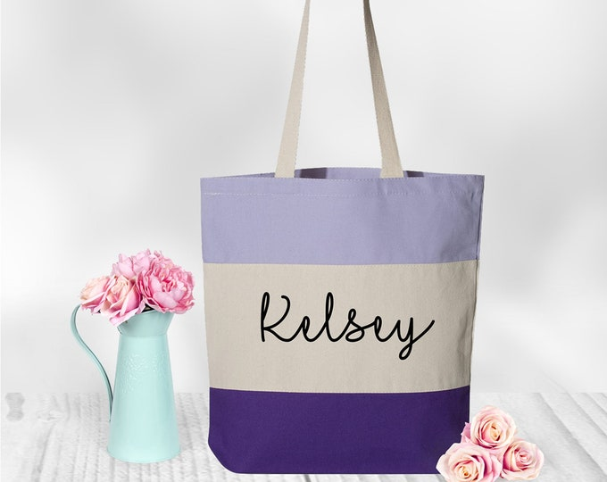 Tote Bag Canvas, Personalized Tote Bag, Tote Bag Women, Bridesmaid Gift,  Glitter and Foil Tote Bag