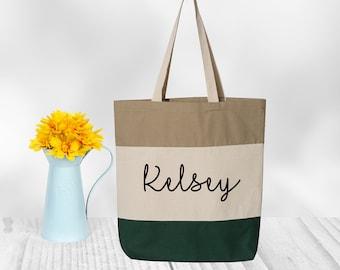 Personalized Tote Bag, Cheer Bag, Dance Bag, Bridesmaid Gift - Personalized Bridesmaid Tote, Wedding Party Gift, Name Tote