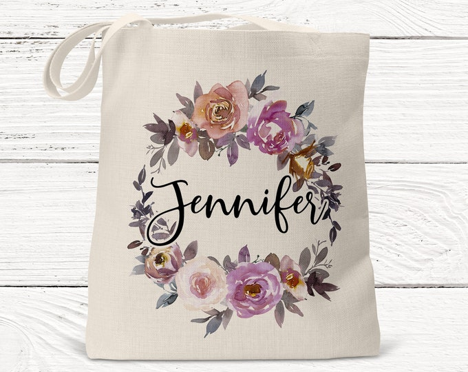 Personalized Bridesmaid Gift Tote, Bridesmaid Gift- Personalized Bridesmaid Tote - Wedding Party Gift - Name Tote- DS3021