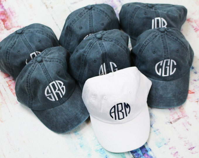 SALE** Monogrammed Hat Baseball Cap, Bridesmaid Gift, Groomsman Gift, Personalized, Monogrammed, Gifts under 15