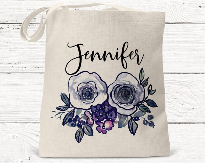 Personalized Monogrammed Bridesmaid Gift Tote DS3004