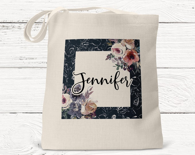 Personalized Bridesmaid Gift Tote Bag, Personalized Tote, Bridesmaids Gift, Monogrammed Tote ds3046