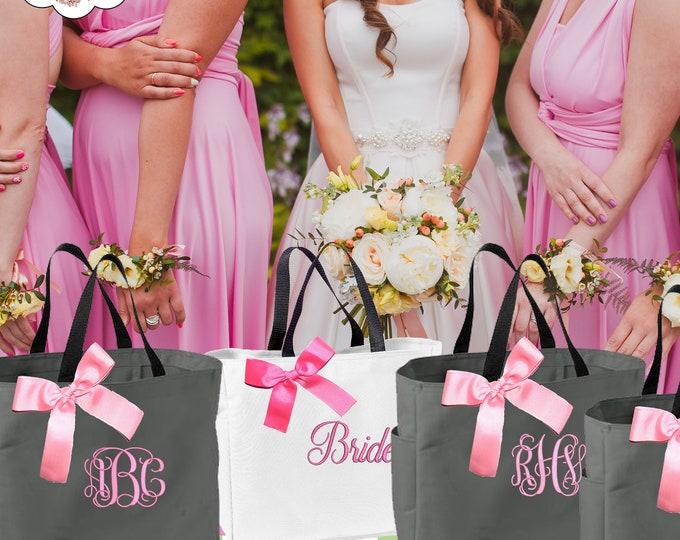 13 Personalized Bridesmaid Tote Bag, Bridesmaid Gifts, Wedding Party Gifts Bridesmaids Totes Bridal Party Gifts Wedding Day Bags