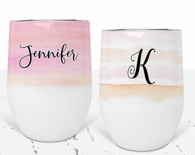 12 oz Wine Tumbler Personalized, Custom Wine Tumbler, Bridesmaid Gift, Wine Cup Bachelorette Party Favors Bridesmaids Proposal