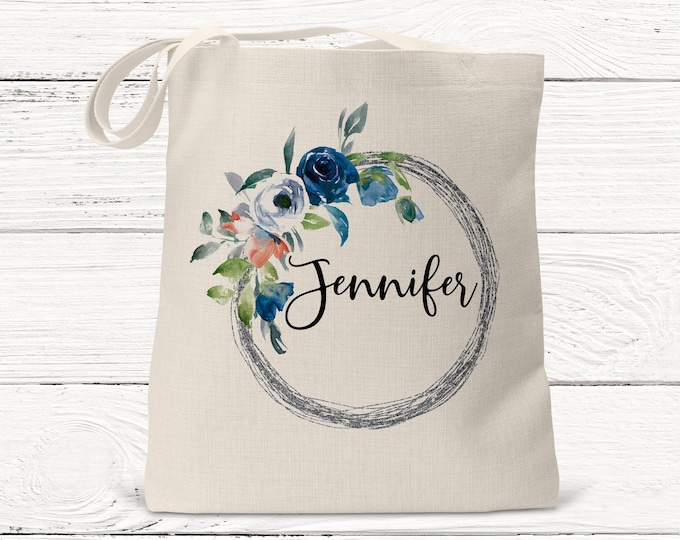 Personalized Monogrammed Bridesmaid Tote Bag, Bridesmaids Gifts, Wedding Bags, Personlised Tote, Maid of Honor Gift, Wedding DS3054
