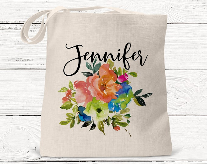 Monogrammed Tote bags, Name Tote, Custom Bridal Party Gifts, DS3074