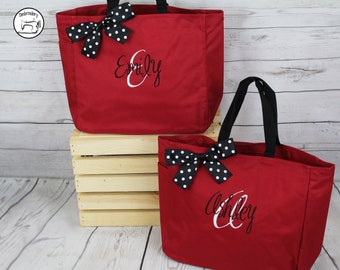 Personalized Bridesmaids Tote Bags, Monogrammed Tote, Bridesmaids Tote, Personalized Tote, Personalized Bags, Make it a set (ESS1)
