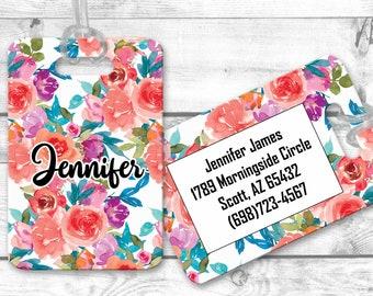 personalized luggage tag bag tag, custom luggage tag, bridesmaid gift, graduation gift flg33