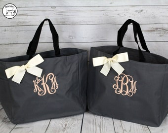Bridesmaid Gift, Tote Bags, Monogrammed Tote Bag,  Tote, Personalized Tote, bridal party gift, Wedding