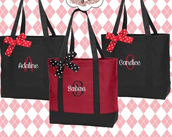 Personalized Tote Bag, Bridesmaids Gift, Monogrammed Tote, Maid of Honor Tote Bag, Wedding Day Tote (NS2T)