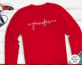 Valentines Gift, Personalized Monogrammed Long Sleeve T Shirts Personalized, Sorority, Cheer Team, Bridesmaid Gift, Bridal Party, T shirt