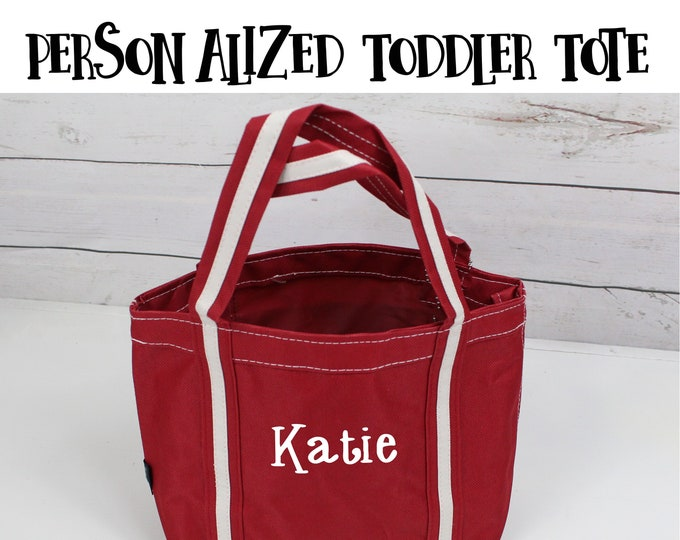 Personalized Toddler Tote, Flower Girl Gift, Childs Tote