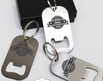 Groomsmen Gift Personalized Card Style Keychain bottle opener for men Groomsman Gift Best Man Gift for him design gkc101