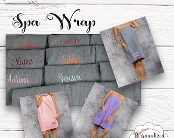 College Bath Wrap , Towel Wrap, Spa Wrap, Bath Wrap , Shower Wrap, Waffle Spa Wrap, Graduation Gift , College Graduation , Monogrammed Wrap