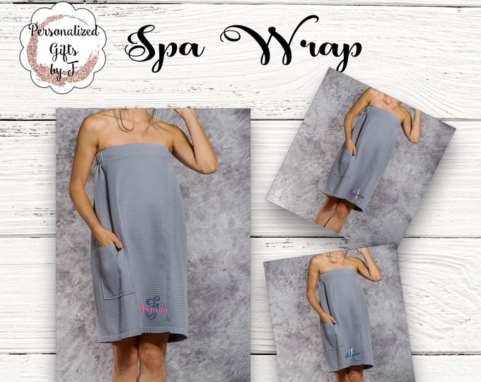 Gray Waffle Bath Wrap
