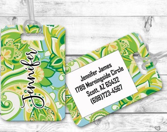 Personalized bag tags, travel bag tag, Paisley Luggage Tags, bridesmaid gift for destination wedding, destination wedding favor