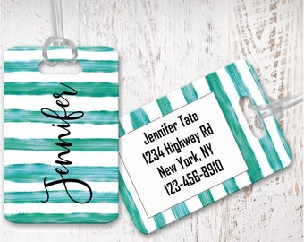 Luggage Tags, Personalized, Custom Bag Tag, Luggage Tag, Traveler gift, Graduation gift, Bridesmaid gift LD11