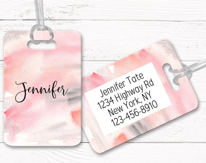 Luggage Tags, Personalized, Custom Bag Tag, Luggage Tag, Traveler gift, Graduation gift, Bridesmaid gift DS1-11