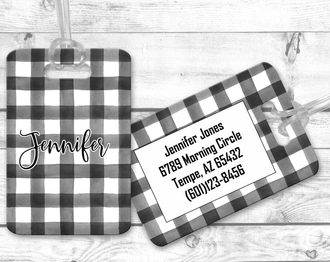 Personalized Luggage Tag, Airport Bag Tag, Custom luggage Identifier, Luggage Name Tag,