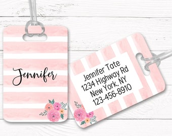 Bag Tags, Personalized, Custom Luggage Tag, Luggage Tags, Traveler gift, Graduation gift, Bachelorette gift DS1-11