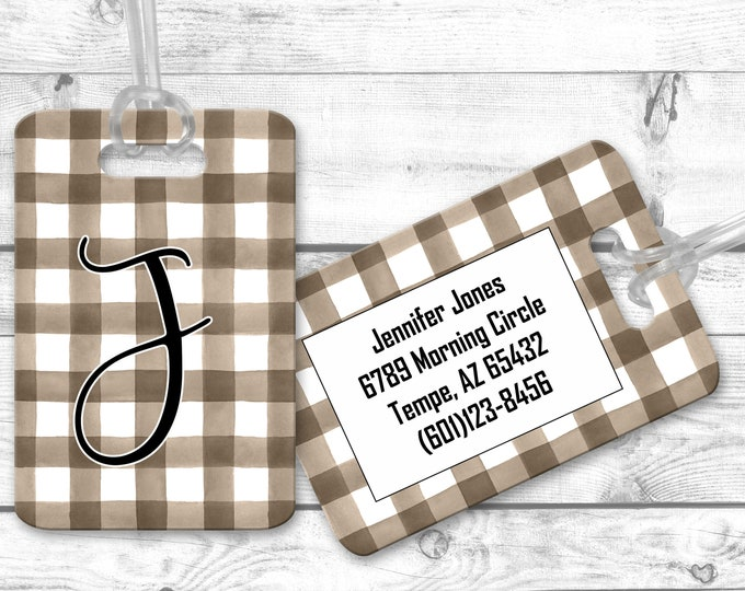 Personalized Bag Tags, Travel Bag Tag, Airport Luggage Tag, Bridesmaid Gift, Micro Wedding Favors
