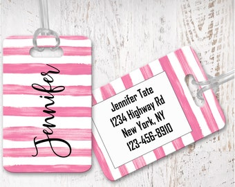 personalized luggage tags, bag tag, custom luggage tag, bridesmaid gift, graduation gift LG12