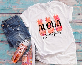 Bachelorette Party Shirts, Aloha Beaches Print Bachelorette Shirts, Brides Babes Shirts, Cute Bachelorette T Shirt, UNISEX SIZES