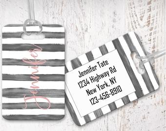 Custom Luggage tags, bag tag, travel bag tag, bridesmaid gift for destination wedding, destination wedding favor LG15