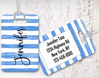Custom Luggage tags, bag tag, travel bag tag, bridesmaid gift for destination wedding, destination wedding favor LG13