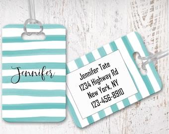 luggage tags, personalized luggage tag, bag tag, carry on bag tag, custom tag, destination bridesmaid gift LG17