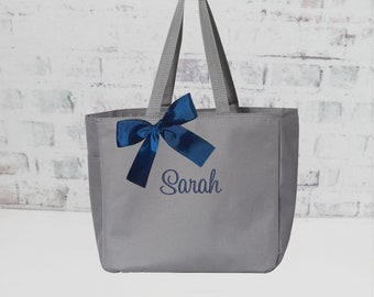 Teacher Tote Bag, Personalized Teacher Gift, Mothers Day Gift Tote Bag, Monogrammed Tote, Bridesmaids Tote, (EDT1) BS
