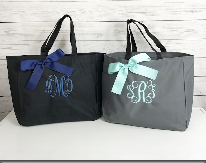 Set of 14 Monogram tote bags