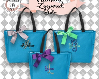 11  Bridesmaid Gift- Personalized Bridesmaid Tote - Wedding Party Gifts - Maid of Honor Tote Bag, Personalized Bridesmaid Tote Bags ESZ1
