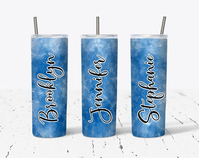 Personalized Bridesmaid Tumblers Glass, Personalized Tumbler, Bridesmaids Gift, Bachelorette Party,  DS23