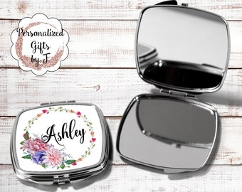 Bridal Shower Favors Mirror Compacts - Bridesmaid Mirrors - Personalized Bridesmaid Gifts hb3