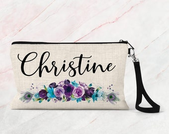 Makeup Bag, Bridesmaid Gift, Cosmetic Pouch, Personalized Makeup Bag COS29