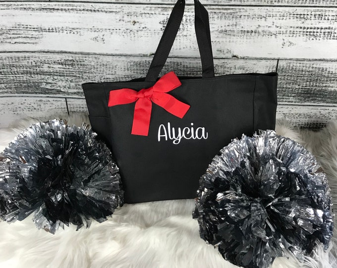 Personalized Cheer bag, Dance Bag, Beach Bag, Bridesmaid Gift, Tote Bag, Embroidered Tote, Monogrammed Tote, Bridal Party Gift (ESS1) BS