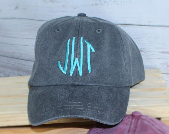 Monogrammed Baseball Cap, Bridesmaid Gift, Groomsman Gift, Personalized, Monogrammed