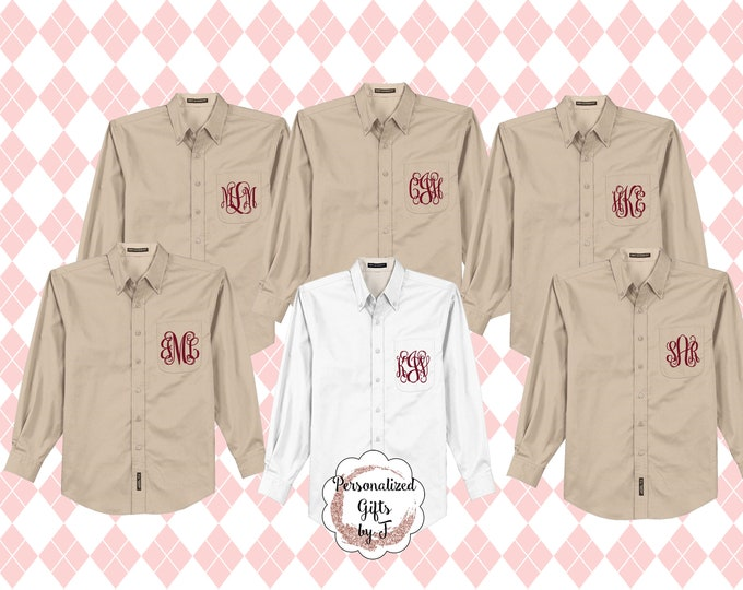 2 Monogrammed Bridesmaid Shirt, Oversized Bridal Party Shirt, Personalized Shirt, Bridesmaids Gift, Bachelorette Party, Getting Ready Shirts