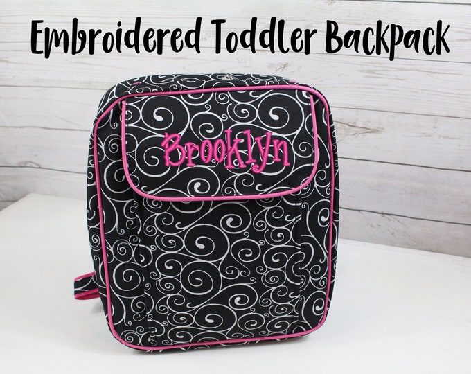 Personalized toddler backpack, Girl daycare bag