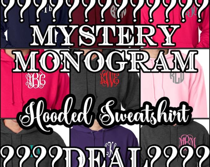 Mystery monogram Hooded sweatshirt, hoodie SALE,
