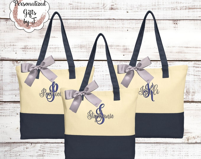 Bridesmaid Tote Bag Bridesmaid Gift For Her Teacher Gift Mother of the Bride Gift Maid of Honor Gift Personalized Tote Custom Tote Bags