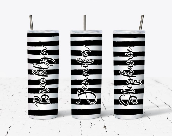 Sublimation Skinny Tumbler, Personalized Gift, Bridesmaids Gifts DS54