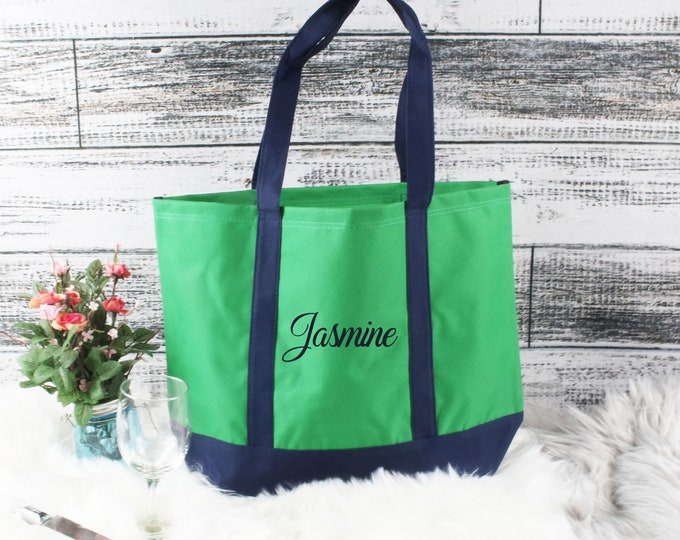 Personalized Bridesmaid Tote Bags, Personalized Tote, Bridesmaids Gift, Monogrammed Tote, Maid of Honor Tote Bag, Wedding Day Tote (TC1)