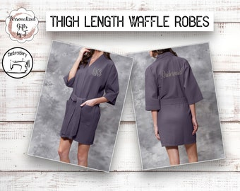 867be0b4ef Charcoal Gray Personalized Bridesmaids Robe