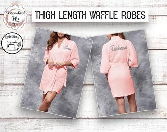 0a8b2f821c Blush Personalized Waffle Robe Spa Robe Bridesmaid Robe Kimono Robe  Bridesmaid Gift Idea Womens Robe Monogrammed