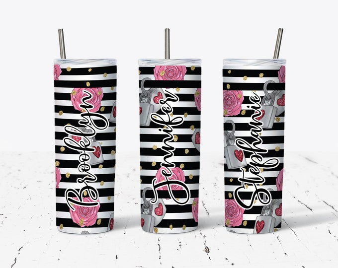 Sublimation Skinny Tumbler, Personalized Gift, Bridesmaids Gifts DS102